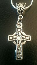 """First Communion/Confirmation Sterling silver 16""""necklace Celtic Cross gift box"""