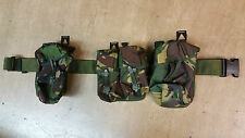 Original British Army Issue Belt With 3 Woodland DPM Pouches Size Small UK