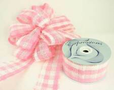 "Pink / White Paper Mesh Ribbon 2.5"" X 20 Yards (Pack of 4 Rolls)"