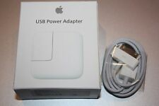 Genuine Original Apple 12W USB Wall Charger w/ 30pin Cable for iPad 1/2/3