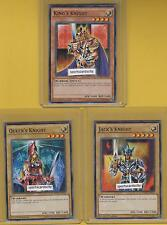 JACK'S + QUEEN'S + KING'S KNIGHT 3 Cards Set - DPBC-EN0 Yu-Gi-Oh - Battle City