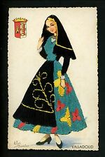 Embroidered clothing postcard Artist Elsi Gumier, Spain, Valladolid woman
