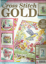CROSS STITCH GOLD,  APRIL, 2015  ISSUE, 47   SPRING INTO LIFE * PRETTY PEACOCK