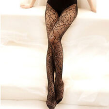 Women Pantyhose Thin Stockings Tights Sheer Elastic Spider Web Net Hosiery Long