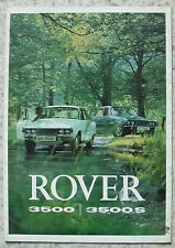 ROVER 3500 & 3500S Car Sales Brochure 1972 GERMAN TEXT #815/11.72/German