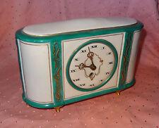 Alte Tischuhr Kaminuhr Kamin Uhr / Weimar Porzellan / mechanisch