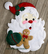 Bucilla Santa's Treats ~ Felt Christmas Wall Hanging Kit #86739, Gingerbread Man