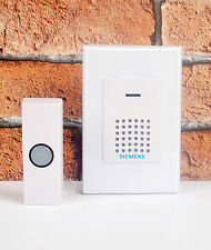 Siemens Wirefree Portable Door Chime with Wireless Bell Push DCWF4 RRP: £19.98