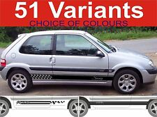 side stripes fits citroen saxo vts vtr decals sticker