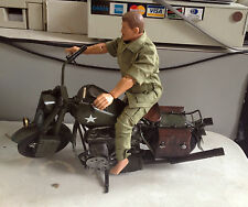 "Jayland 1/6 Scale 12"" Metal WWII US Army Harley Davidson Military Motorcycle"