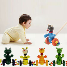 Cartoon Children Toddler Baby Coagent Putting Animals Wooden Puzzle Trolley Toys