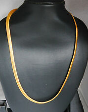 22 k gold plated snake Chain 22in thick CHAIN Indian necklace mens/ladies hc15