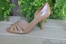 Kenneth Cole New York Women's Nude Patent Leather Peep Toe Made in Brazil Sz 10