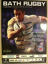 Bath V Wasps Rugby Programme And Ticket 1 April 2009