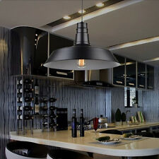 Vintage Retro Modern Black Lampshade Fixture Ceiling Pendant Light Lamp Fitting