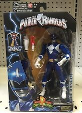 "MIGHTY MORPHIN POWER RANGERS LEGACY BLUE RANGER 6"" FIGURE BUILD A MEGAZORD BAF"