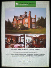 COMPTON HOUSE FAIRMILE COBHAM SURREY 1pp ESTATE AGENT ADVERT c1995
