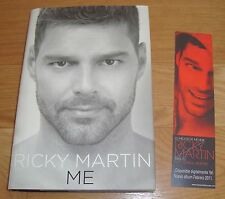 Ricky Martin SIGNED 1st ed Hardcover Book with Promotional Bookmarker! FREE S/H!