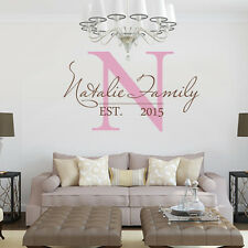Custom Family Name Wall Decal Vinyl Inspiration Quote Living Room Home Art Decor