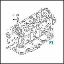 GENUINE VW MK3 GOLF VENTO 1.9 D/TD CYLINDER HEAD GASKET 2-HOLE VAG Diesel/Turbo