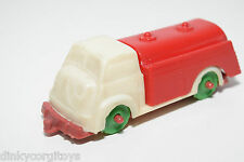 PLASTIC W. GERMANY MATADOR TANKER TANK TRUCK WHITE RED EXCELLENT CONDITION RARE