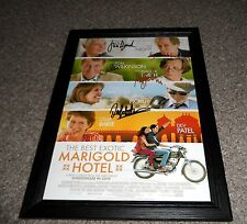 "THE BEST EXOTIC MARIGOLD HOTEL PP CASTX5 SIGNED & FRAMED 12""X8"" A4 PHOTO POSTER"