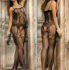Ladies Sexy Lingerie Babydoll Lace Dress Floral Body Stocking Bodysuit New C47