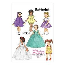 "BUTTERICK  SEWING PATTERN RETRO VINTAGE 1957 18"" DOLL CLOTHES DRESS COAT B6336"