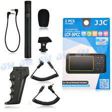 3in1 Pistol Grip & Shotgun Microphone & Screen Protector for Black Magic BMPCC