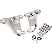 Set Montaggio Cromato x Pedali Pedalini Poggiapiedi Passeggero Harley XL 04-13