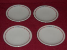 RARE SET OF 4 World Airways BUTTER DISHES