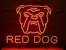 Brand New Red Dog Real Glass Tube Beer Bar Art Neon Light Sign [High Quality]