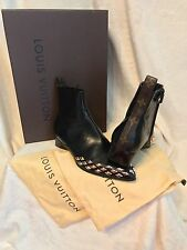 Louis Vuitton Limited Edition GOLD RUSH Stud Ankle Boot Shoes 8, 8.5