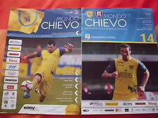 2 PROGRAMMI UFFICIALI CALCIO CHIEVO VERONA- PARMA SERIE A 2009/10 E 2010/11
