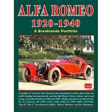 Alfa Romeo 1920-1940 A Brooklands Portfolio paper book