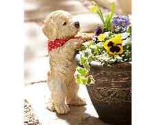 Peeping Cachorro Jardín Adorno Decoración Maceta Decoración Exterior A prueba de intemperie