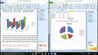 MICROSOFT OFFICE 2010 STARTER [WORD 2010 & EXCEL 2010] FOR WINDOWS 10, 8, 7