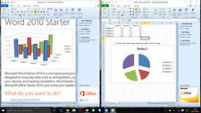 Microsoft Office 2010 Starter [ Word 2010 & EXCEL 2010 Starter ] per Windows, 10, 8