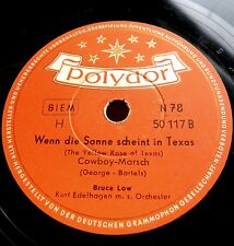 0102/ BRUCE LOW-The Yellow Rose of Texas-Wenn Sonne scheint in Texas-Schellack