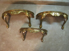 BURWOOD Syroco HOLLYWOOD REGENCY WALL SHELVES Gold/Gilt Florentine SET/3 VTG MCM