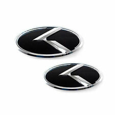 Front Rear 3D K Logo Emblem 2p For 16 17 Kia All New Sorento USA & Canada Only