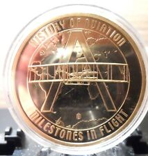 AMERICAN MINT COMMEMORATIVE COIN, HISTORY OF AVIATION,SPIRIT OF ST. LOUIS !!!!!