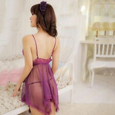 Sexy Lingerie Set Dress Women Nightwear Underwear Sleepwear + G-string Babydoll