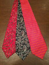 Lot of 3 ROBERT TALBOTT Silk Mens Paisley & Novelty Ties Neckties Multi-Color
