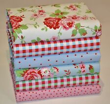 CATH KIDSTON IKEA ROSALI COTTON FABRIC BUNDLE OF 6 FAT QUATERS CRAFT PATCHWORK