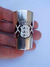 Lovely Circa 1912 Dane Silver Enamel Danish Flag Denmark Iceland Goblet Cup !!