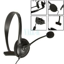 Black Slim Small Headset With Noise Canceling Microphone For Xbox 360 Live