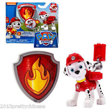Paw Patrol Action Pack Pup & Badge Shield Dog Backpack Projectile Toy - Marshall