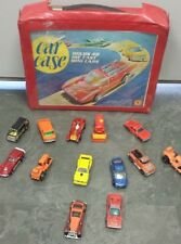 Vtg Tara Toy Corp. Red Car Case - Holds 48 Die Cast Mini Cars & 14 cars!