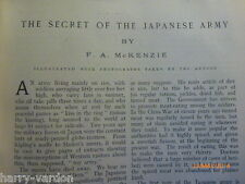 Old Antique Edwardian Photo Illustrated Article 1905 Secret Japanese Army Judo